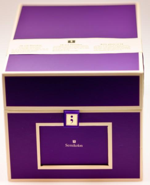 cd und fotobox in lila von semikolon ebay. Black Bedroom Furniture Sets. Home Design Ideas