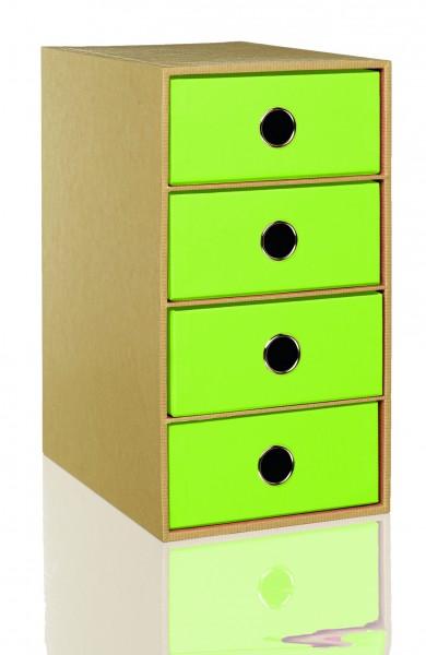 Nature Green - 4er Schubladenbox